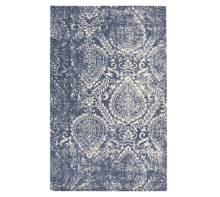 Easy Care Shilah Synthetic Rug - Blue