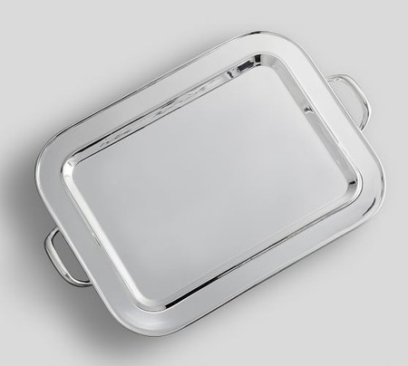 Polished Silver Rectangle Tray