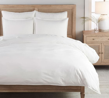 Spencer Washed Organic Cotton Duvet Cover & Shams - White