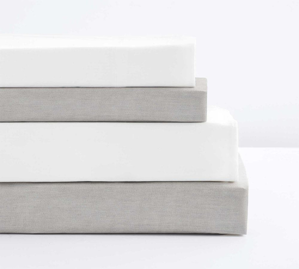 Spencer Washed Organic Percale Sheet Set
