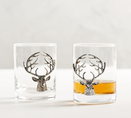 Stag Double Old Fashioned Glasses - Set of 2