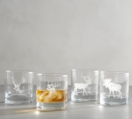 Stag Double Old Fashioned Glasses - Set of 4