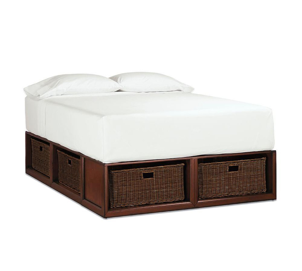 Stratton Storage Platform Bed with Baskets