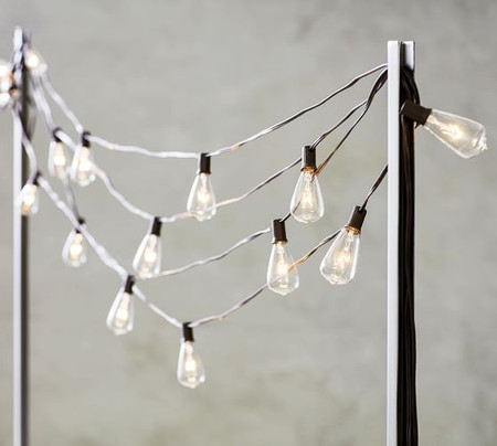 Indoor/Outdoor String Light Holder Poles - Set of 2