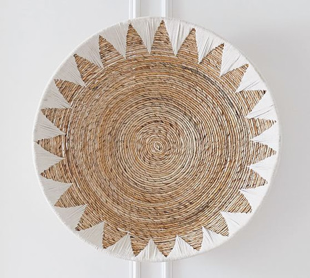 Sunny Handwoven Basket Wall Art