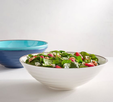 Swirl Melamine Large Serving Bowl