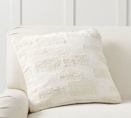 Textured Geo Squares Pillow Cover