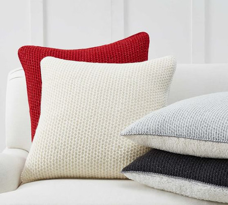 Thermal Sherpa Back Knit Pillow Covers