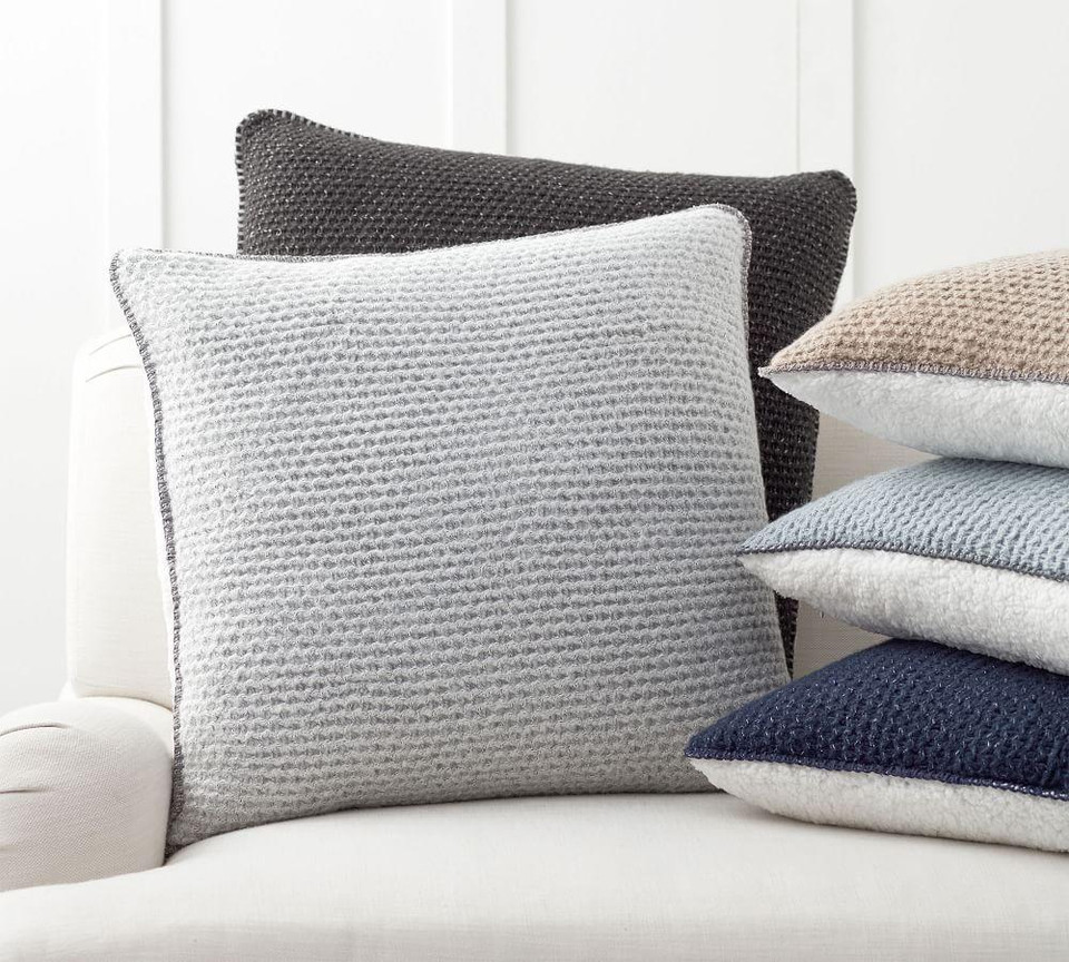 Thermal Knit Sherpa Back Pillow Cover Pottery Barn Canada