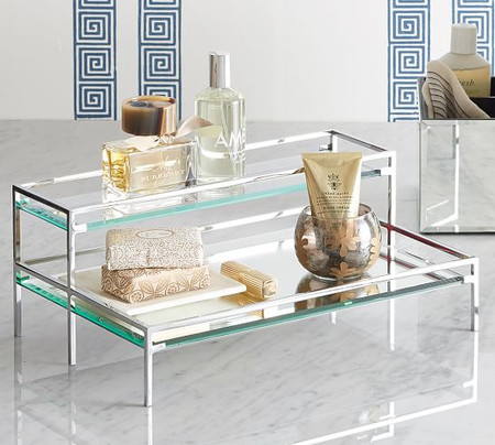 Mirrored Tiered Tray