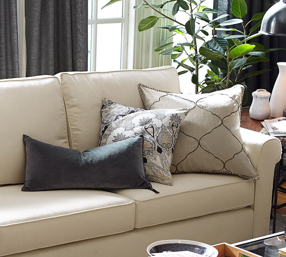 Pottery Barn Pillows Canada: Tile Embroidered Pillow Cover
