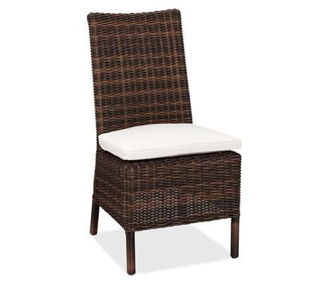 Torrey All-Weather Wicker Dining Side Chair, Espresso