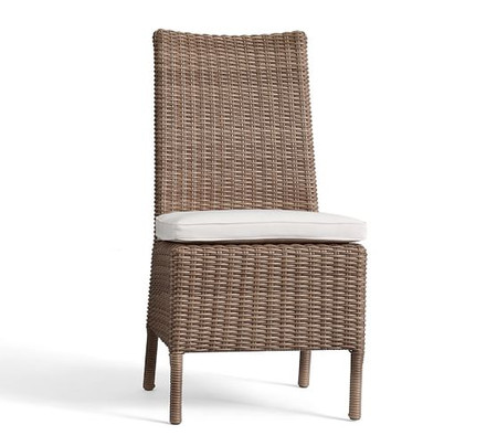 Torrey All-Weather Wicker Dining Side Chair, Natural