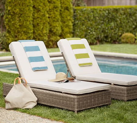 Torrey All-Weather Wicker Single Chaise Lounge, Natural