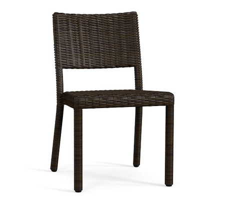 Torrey All-Weather Wicker Stackable Dining Chair, Espresso
