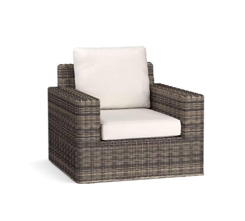Torrey All Weather Wicker Square Arm Swivel Lounge Chair