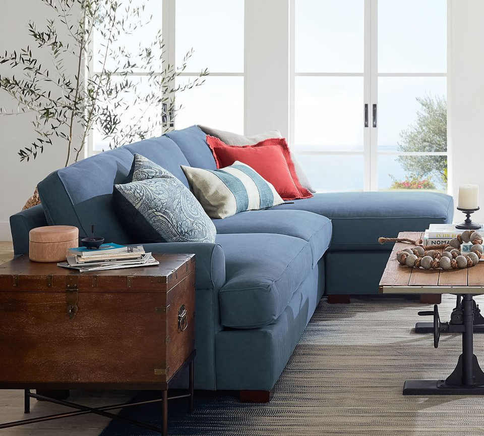 Townsend Roll Arm Upholstered Sofa with Reversible Storage ...