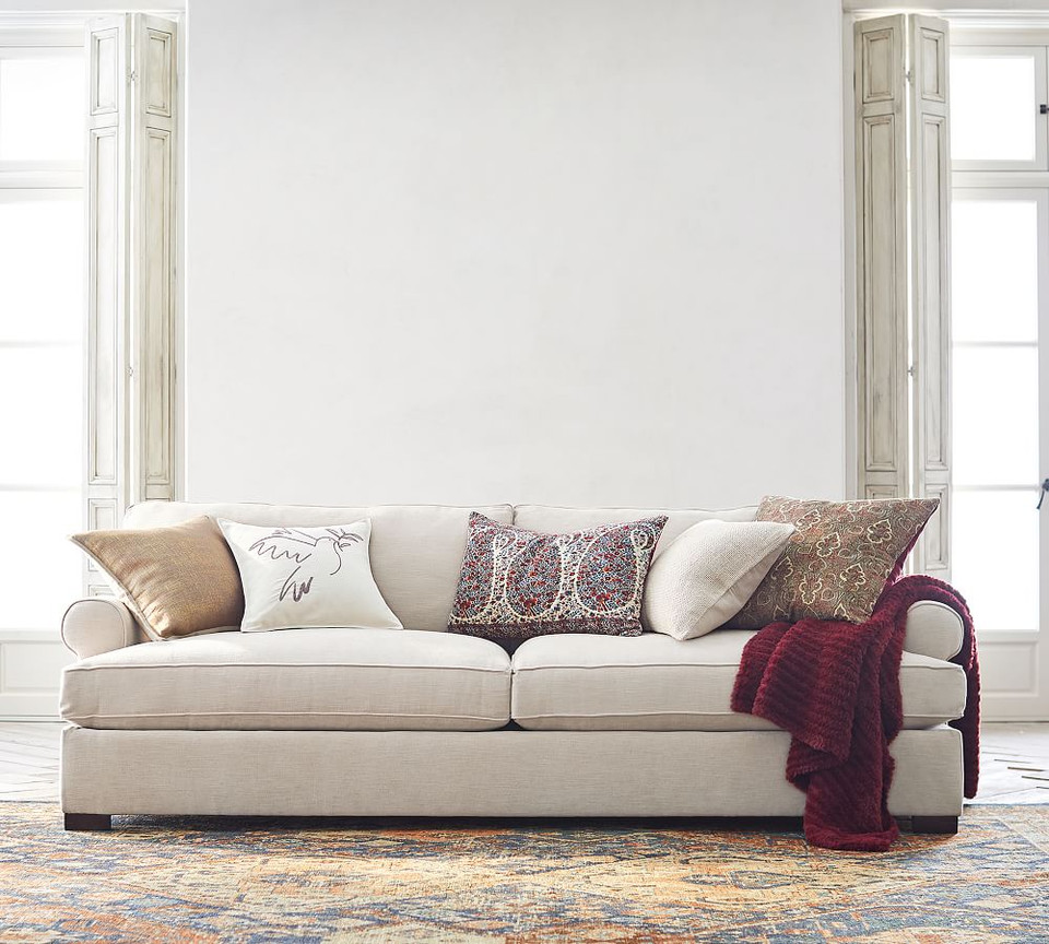 Townsend Roll Arm Upholstered Sofa | Pottery Barn CA