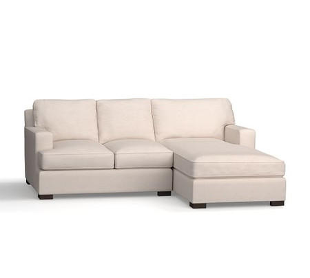 Townsend Upholstered Square Arm Sofa with Chaise Sectional