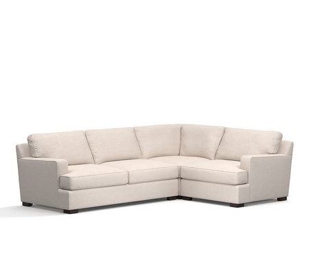 Townsend Square Arm Upholstered 3-Piece Sectional with Corner