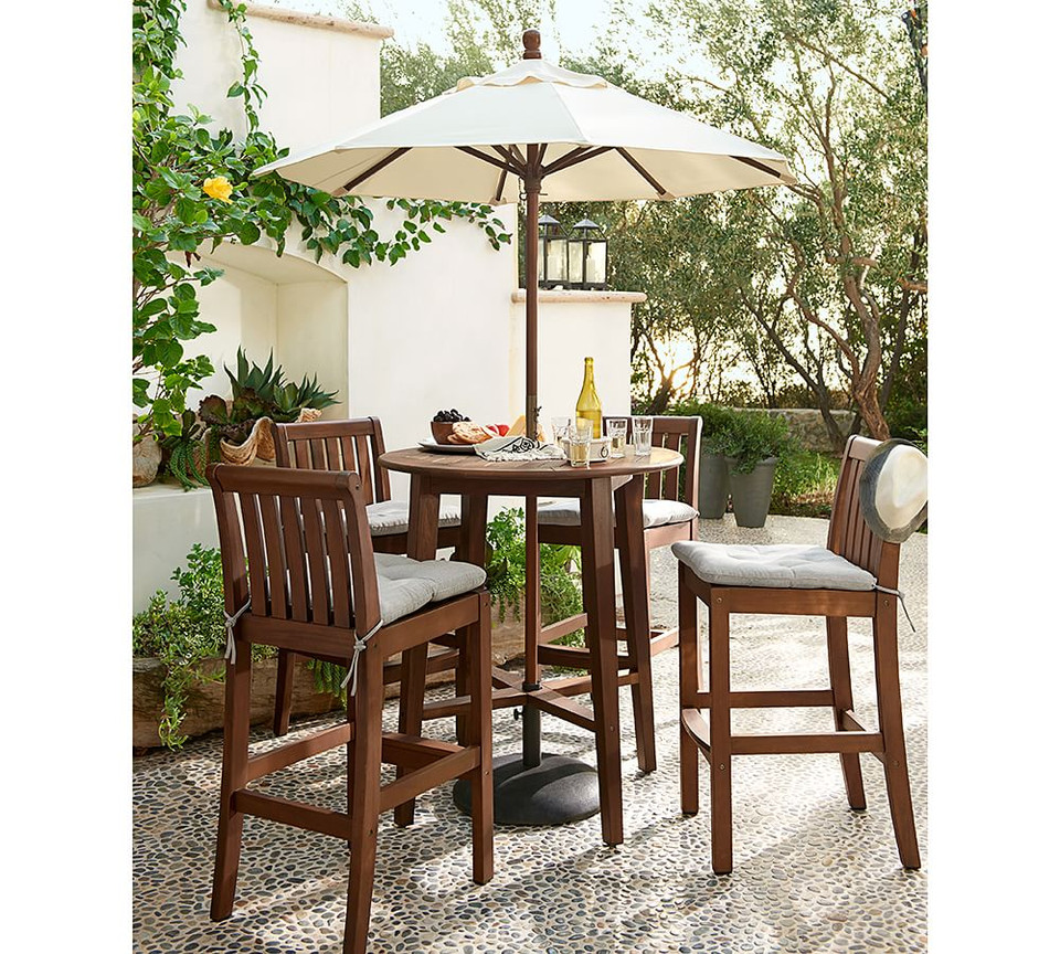 Tufted Sunbrella® Outdoor Dining Chair Cushion