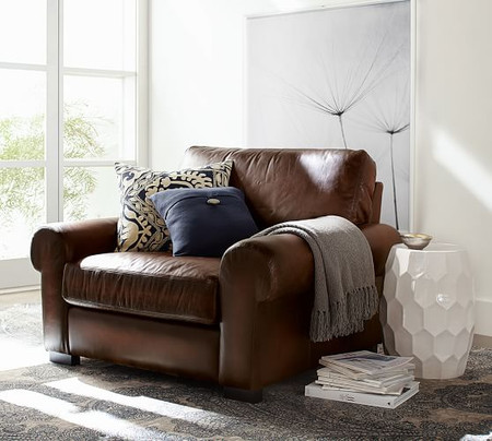 Turner Roll Arm Leather Armchair