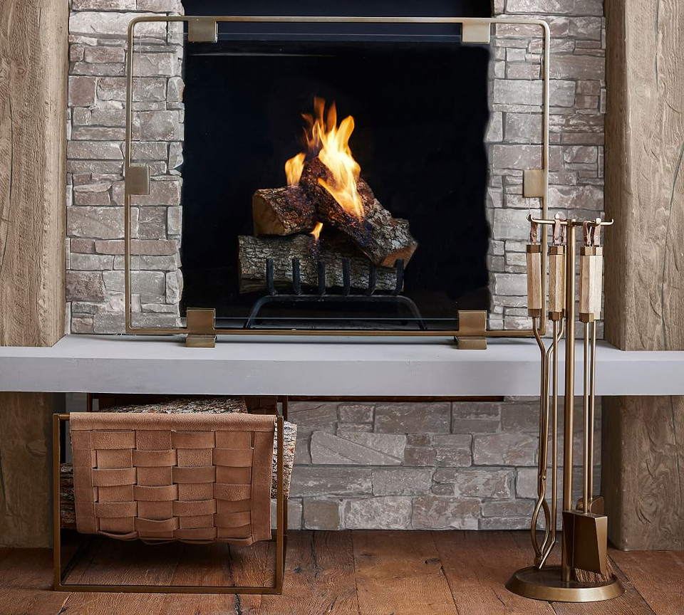 Vail Suede Fireplace Log Holder