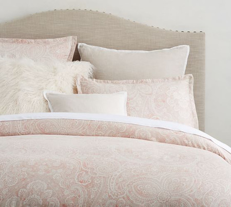 Vanesa Printed TENCEL™ Duvet Cover & Shams - Soft Rose