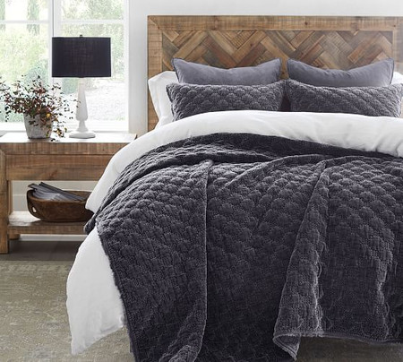 Velvet Lattice Quilt & Shams