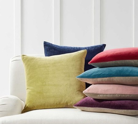 Velvet with Linen Pillow Covers