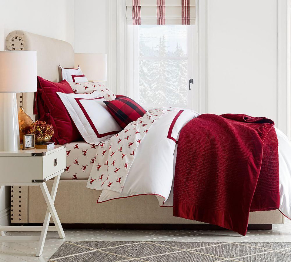 Velvet Channel Quilt & Shams - Ruby