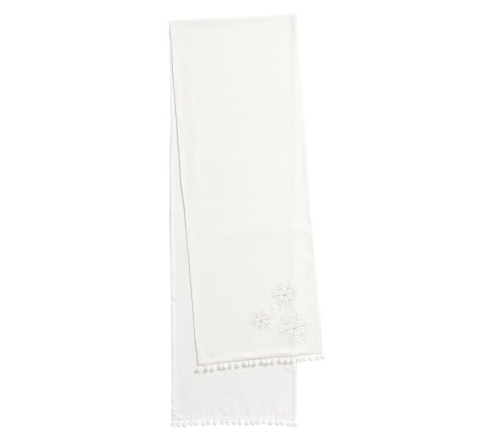 White Velvet Snowflake Table Runner Pottery Barn Canada