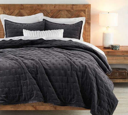 Velvet Tufted Quilt & Shams
