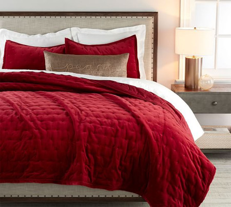Velvet Tufted Quilt & Shams - Ruby