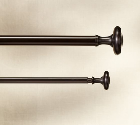 Vintage Curtain Rod & Wall Bracket - Oil-Rubbed Bronze Finish