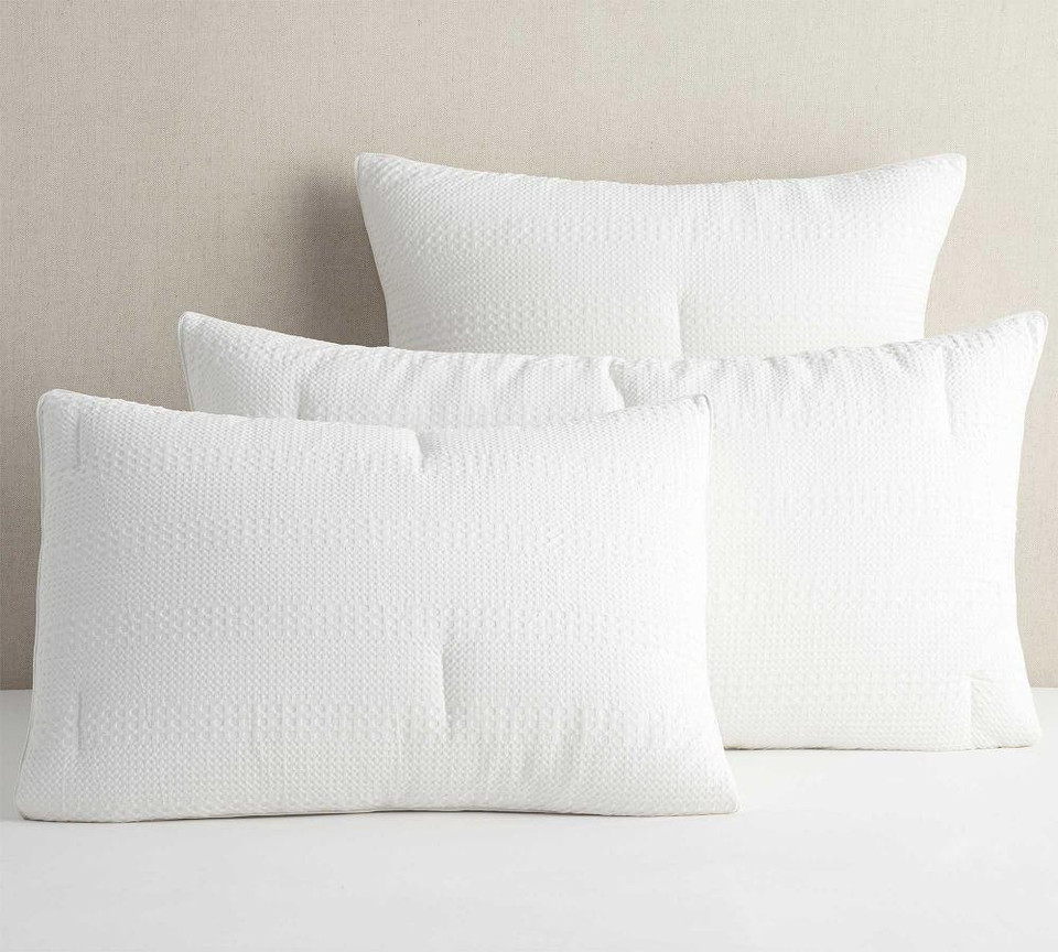 Waffle Weave Textured Percale Comforter Amp Shams Pottery