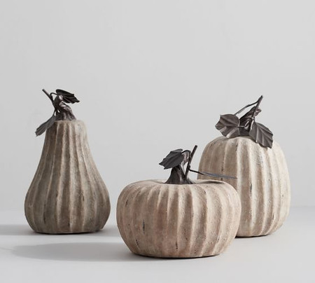 Weathered Stone Pumpkins