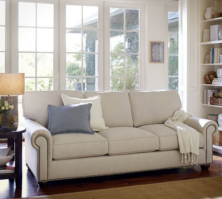 Webster Roll Arm Upholstered Sofa 85""
