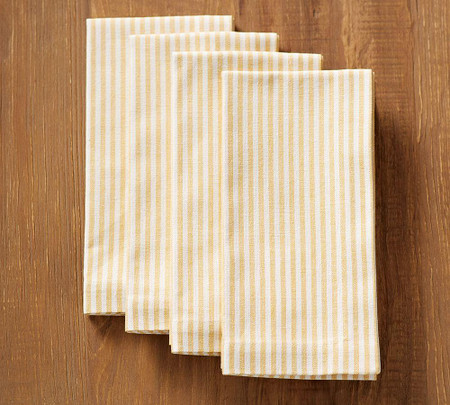 Wheaton Stripe Napkin - Sunflower Yellow