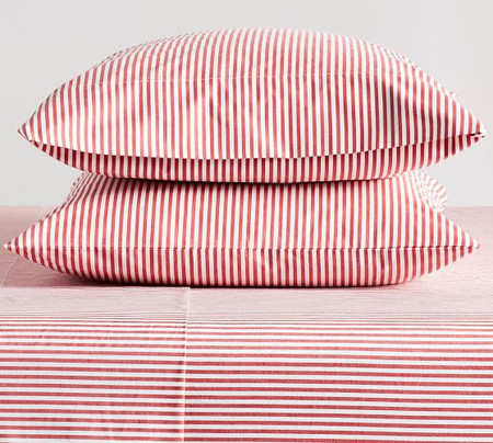 Wheaton Stripe Organic Percale Pillowcases