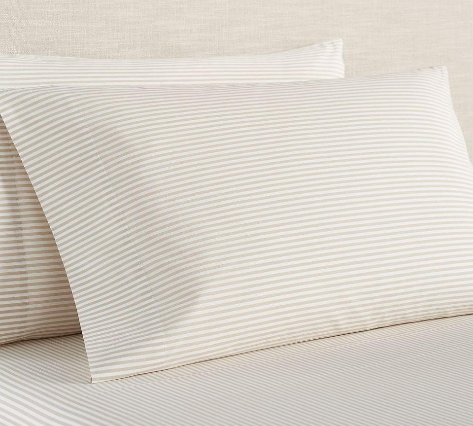 Wheaton Stripe Organic Percale Sheet Set