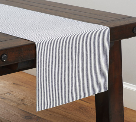 Wheaton Stripe Table Runner - Navy