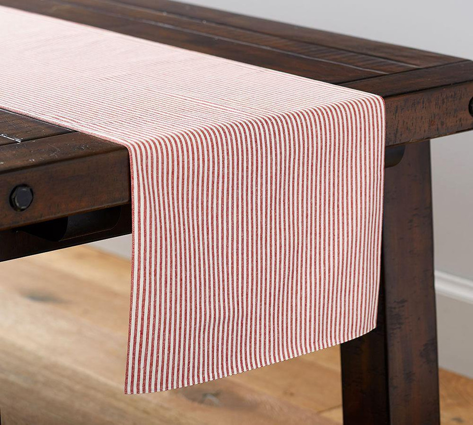 Wheaton Stripe Table Runner - Red