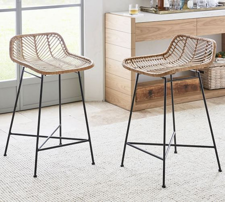 Wicker Woven Counter Stool