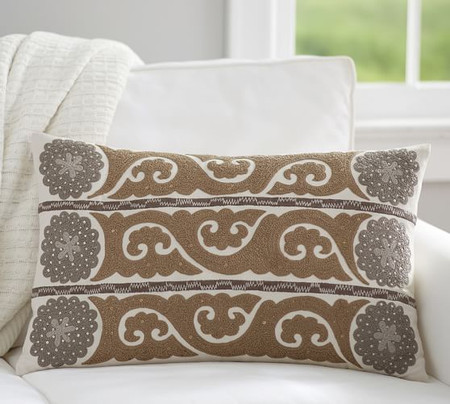 Wilhelmina Embroidered Suzani Pillow Cover