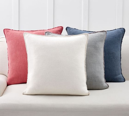 Willa Fringe Textured Pillow Cover