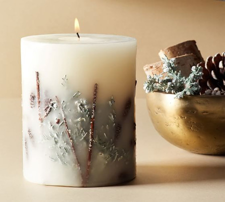 Winter Spruce Scented Pillar Candle