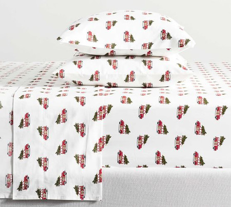 Woody Car Organic Percale Sheet Set
