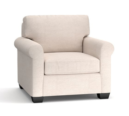 York Roll Arm Upholstered Armchair