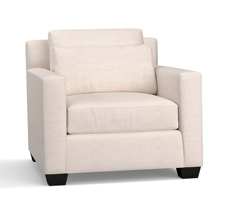 York Square Arm Deep Seat Upholstered Armchair